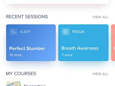 Meditation App Concept meditate bright colors meditation timer meditation app daily challange vector ux ui design colorful app bright ux design ui design