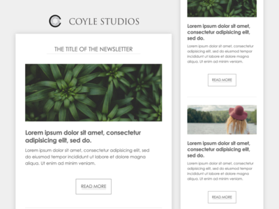 Minimalist Email Newsletter Template (Photography Studio)