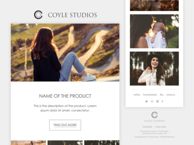 Minimalist Product Email Template (Photography Studio)