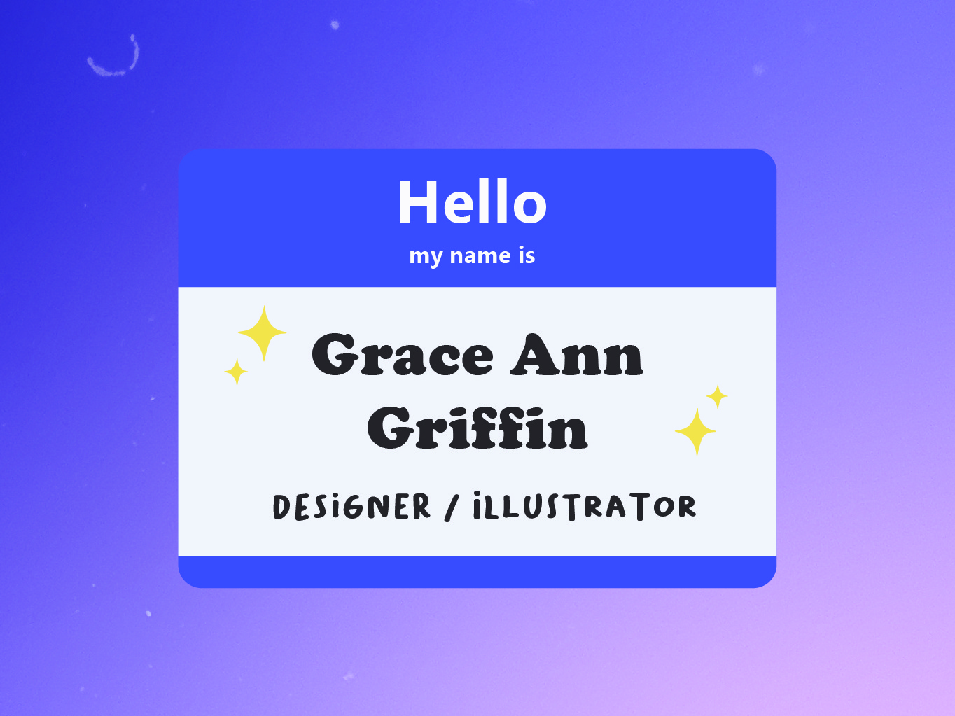 name tag by Grace Ann Griffin on Dribbble