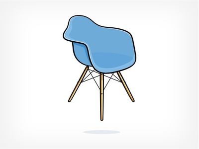 Levitating Eames Chair eames chair icon illustration