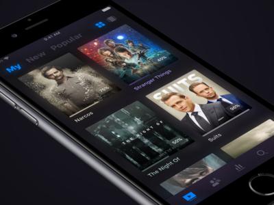 TV Series App interface ux design ui ios