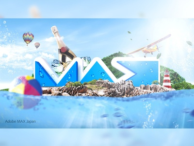Adobe Max Challenge sea water summer adobe photoshop graphic design