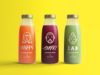 Emo Drinks juice package bottle design bottle package design