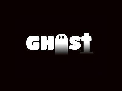 GHOST typography branding logo