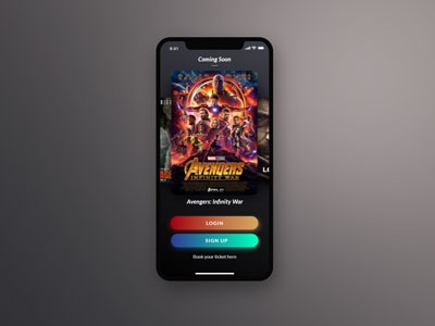 Sign up Movie Interface Design