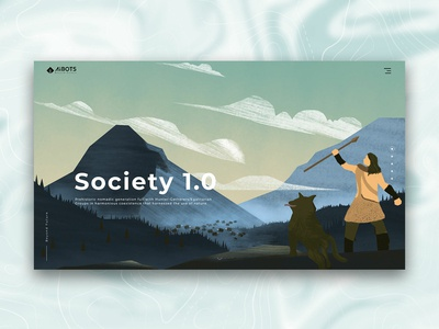 Society 1.0 Illustration