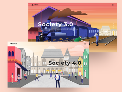 Aibots - Illustration For Society 3.0 & 4.0