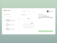 Conversion Focused Party Booking Application