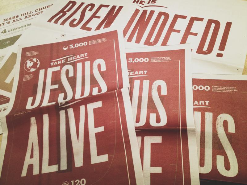 Easter Handout easter jesus newsprint