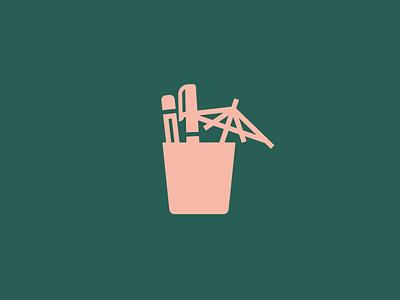 TravelDesq branding logo drink pencil pen umbrella cup