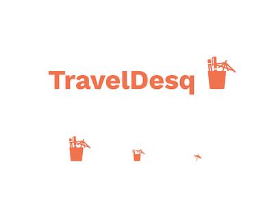 TravelDesq Lock-up branding logo drink pencil pen umbrella cup travel
