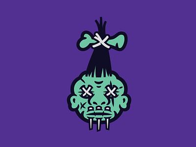 Shrunken shrunkenhead illustration halloween