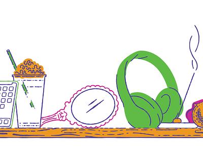The Temptations headphones incense iphone sugar mirror music illustration