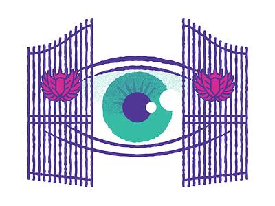 Watching cyclops gates eye illustration