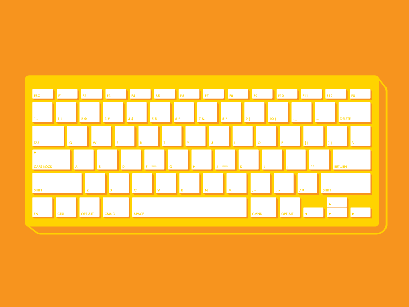 Keyboard keyboard hotkeys illustration shortcuts guide