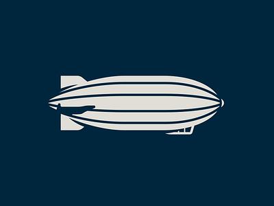 Zeppelin airship blimp illustration