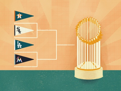 ESPN Radical Idea Series—Playoffs pennant commissioners trophy world series playoffs mlb espn editorial illustration