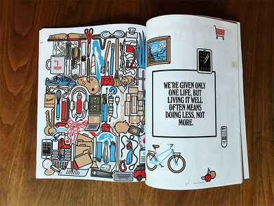 do good life busy editorial illustration