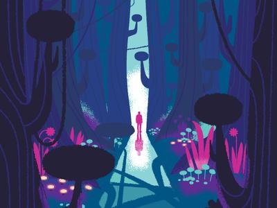 Welcome To The Jungle scenic jungle illustration