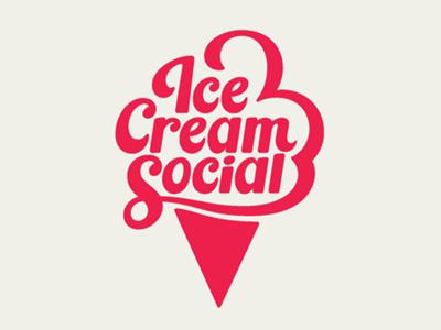 Ice Cream Social ice cream logo creamery ice cream cone ice cream typography logo