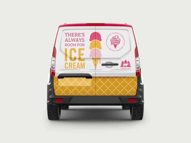 Ice Cream Social Van Wrap ice cream wrap packaging vehicle