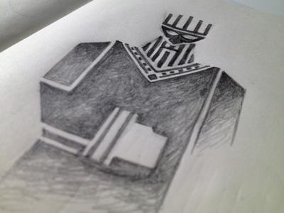 Xerxes Sketch illustration sketch king xerxes