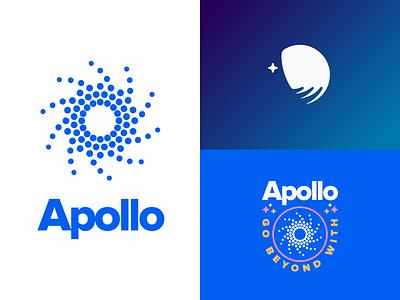 Apollo Logo universe space icon logo branding