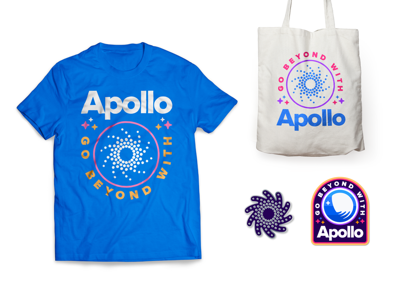 Apollo Goods patch enamelpin bag tshirt collateral