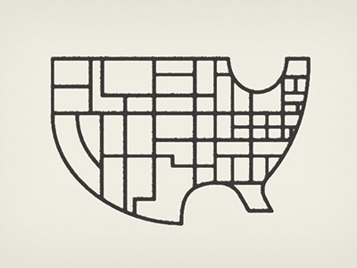 USA Simple By Patrick Mahoney Dribbble - Simple us map