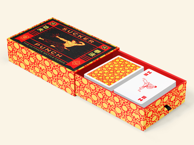 Sucker Punch Packaging card game karate martial arts packaging illustration