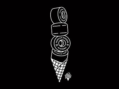 wheels alchemy ice cream social durometer 99a illustration colab icecream wheel skateboarding skate
