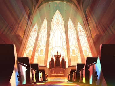Right Now — Backgrounds background interior church drawing art animation photoshop design illustration