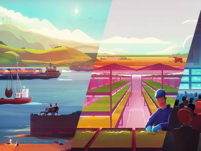 UBC | Land and Food Systems university master food land farm colour panel artist design illustration