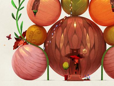 The Gnome Universe — I digital painting sketch warm colour miniature gnome design illustration art