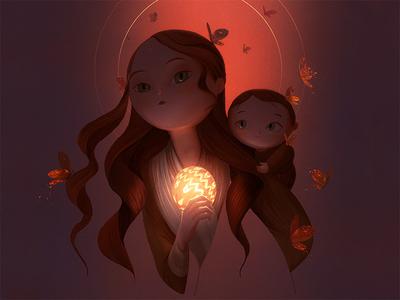 Sun color artist design illustration