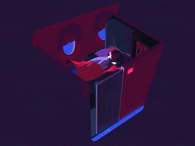 Delta — Slow Down digital art painting color photoshop animation design illustration