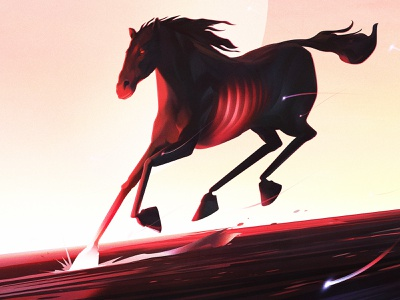 Horse painting drawing digital color photoshop art illustration ghost horse