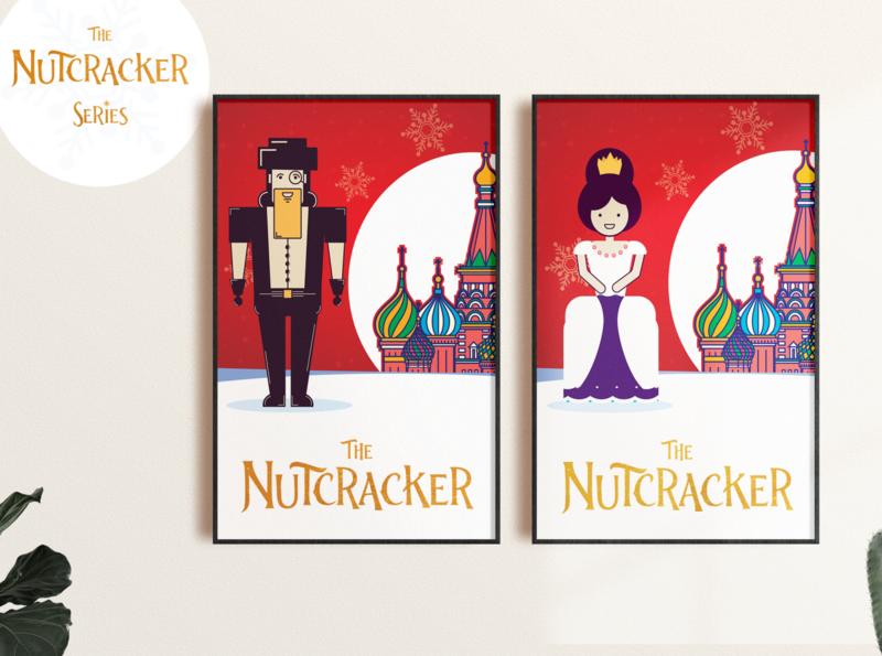 nutcracker series poster vector design
