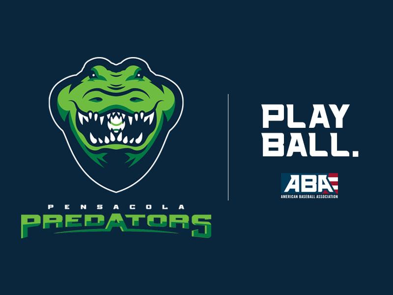 Pensacola Predators - ABA sports logo sports alligator crocodile pensacola baseball