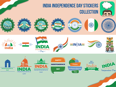 India Independence day stickers pack live photo gif mobile app flags collection independence india sticker pack whoopeeworld whoopee