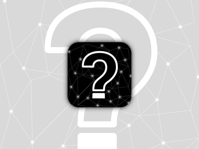 Question Icon android ios app sparkles black mark logo icon question