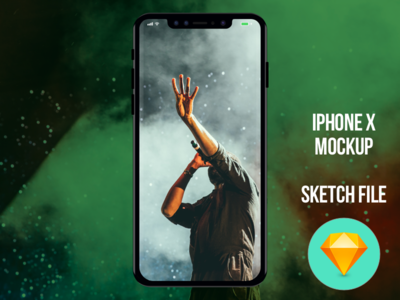 IPhone X mockup Sketch file Download