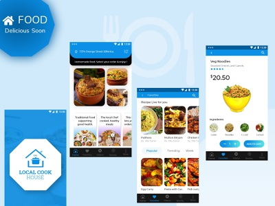Local Cook House design ux biryani booking app weekly ui design restaurant app food app clean hotel restaurant uxdesign ui mobile ui mobile logo house cook local