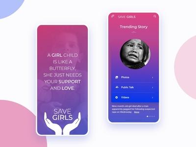 Save Girls UI