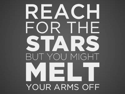 Reach for the Stars quotes type gotham stars