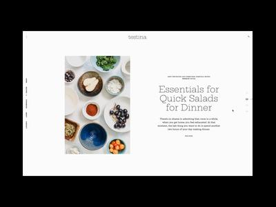 Testina - Food Blog Theme chef restaurant foodblog wordpress design responsive minimal theme template