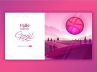 Thanks & Hallo Dribbble