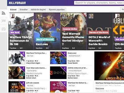 Online Multiplayer gaming community portal ux ui multiplayer game