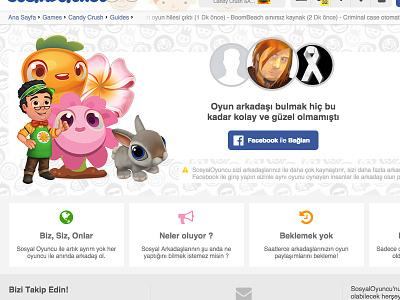 Login for access page membership permission login facebook ux ui social game